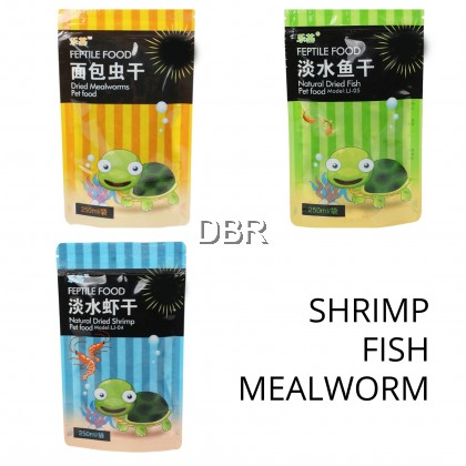 Natural Dried Shrimp, Fish, Mealworms, Ulat Roti  for Sugar Glider, Hamster Arowana Fish Reptiles Turtle Bird Lizard